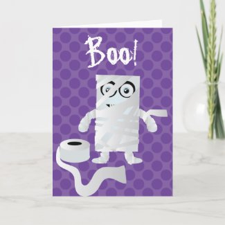 Halloween Card wrapped mummy