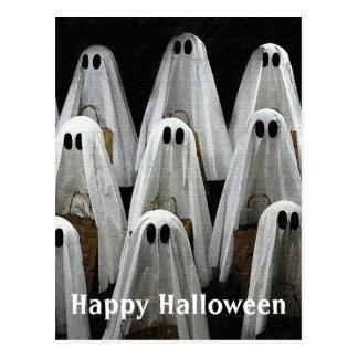 Halloween Carolers Postcard