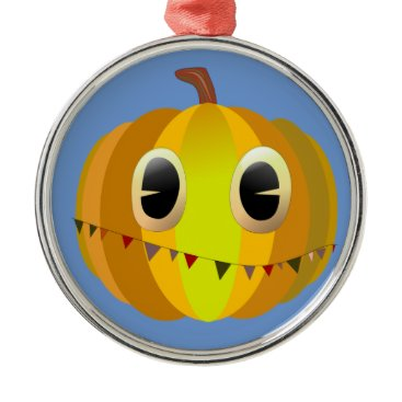 Halloween Themed Halloween Cartoon Christmas Pumpkin Metal Ornament