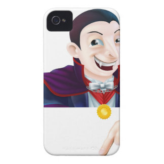 Halloween Cartoon Dracula Pointing Case-Mate iPhone 4 Cases