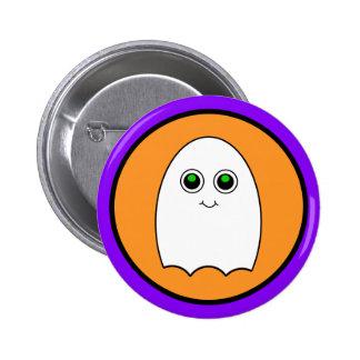 Halloween Cartoon Ghost Button