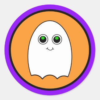 Halloween Cartoon Ghost Classic Round Sticker