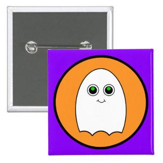 Halloween Cartoon Ghost Pinback Button
