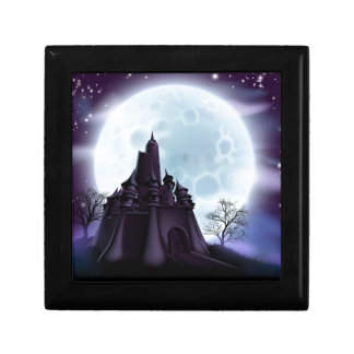 Halloween Castle Background Gift Boxes
