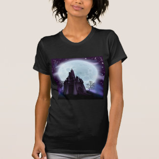 Halloween Castle Background Shirt