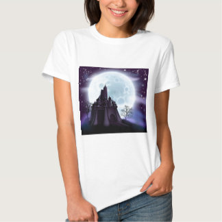 Halloween Castle Background Tee Shirts
