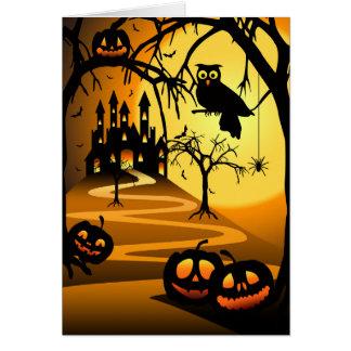 Halloween Castle Greeting Card