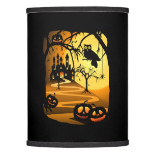Halloween lamp shades zazzle halloween castle lamp shade aloadofball Images