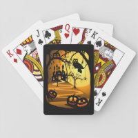 Halloween Castle Playing Cards