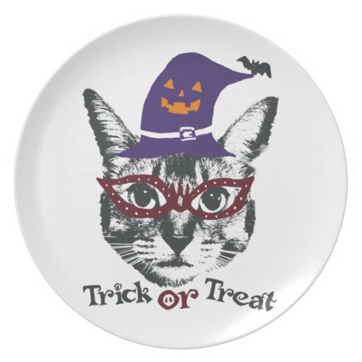 Halloween cat パーティープレート