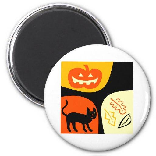 Halloween Cat 2 Inch Round Magnet