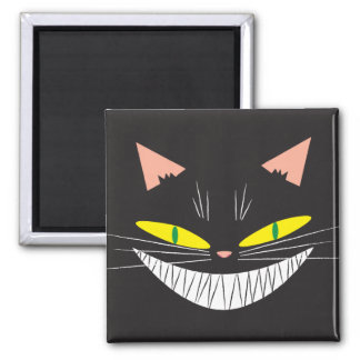 Halloween Cat 2 Inch Square Magnet