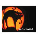 "Halloween Cat 4.25"" X 5.5"" Invitation Card"