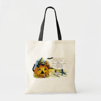 Halloween Cat and Mouse Tote Bag