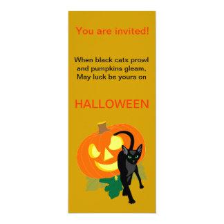 Halloween Cat and Pumpkin Invitation