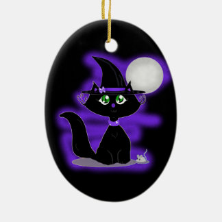 Halloween Cat and toy mouse Christmas Tree Ornaments