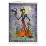"""Halloween Cat"" Blank Card"