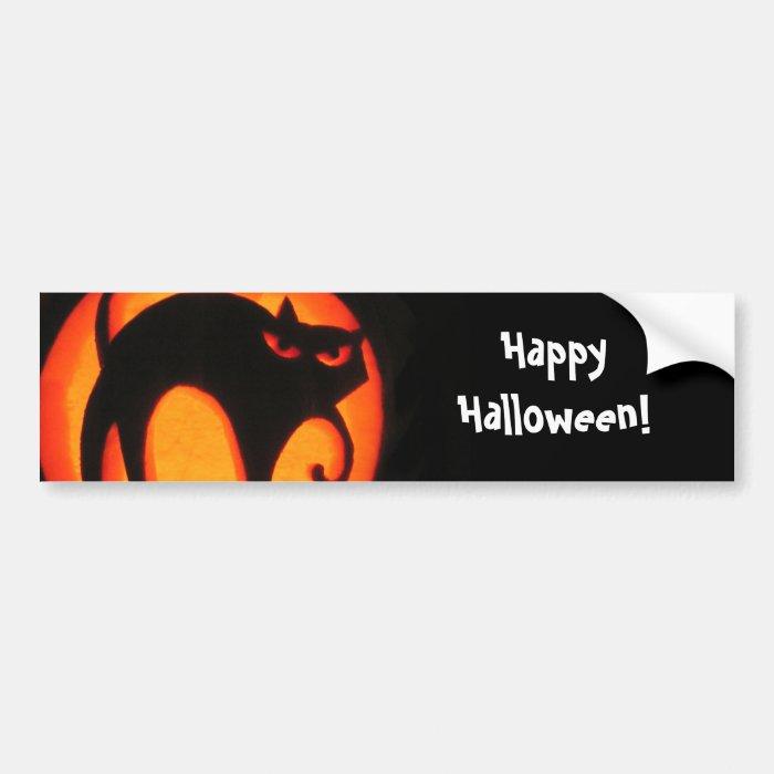 Halloween Cat Bumper Sticker
