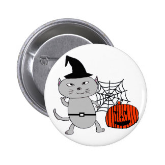 Halloween cat 2 inch round button