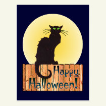 HALLOWEEN CAT by SHARON SHARPE Postcard