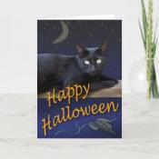 Halloween Cat Card card