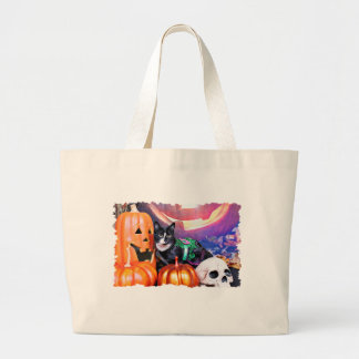 Halloween - Cat - Daisy Tote Bags