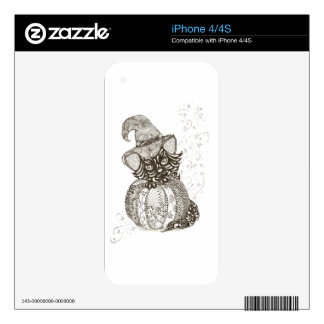 Halloween Cat Decal For iPhone 4
