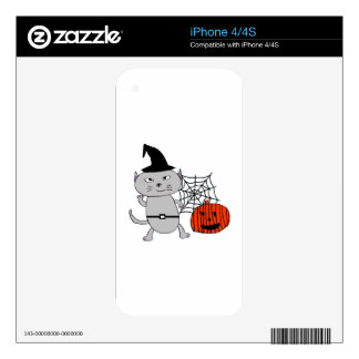 Halloween cat decals for the iPhone 4