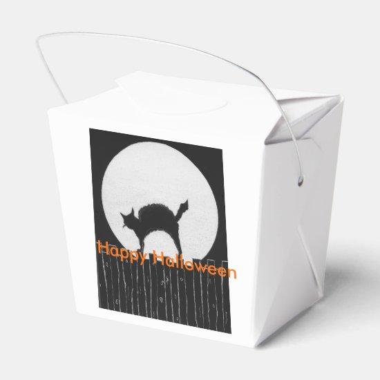 Halloween Cat Favor Box