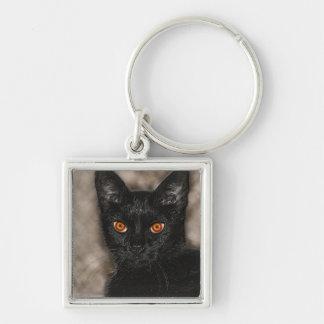 Halloween Cat - funny keychain