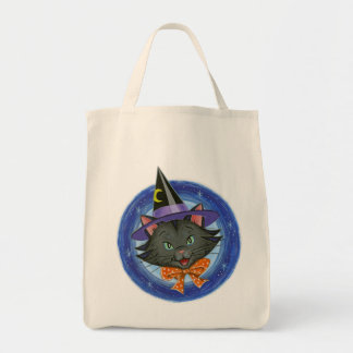 Halloween Cat: Grocery Trick or Treat Tote Bag