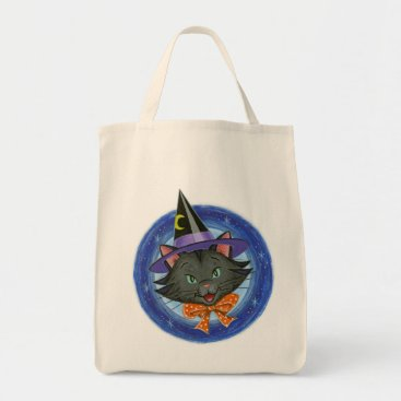 MaxGrady Halloween Cat: Grocery Trick or Treat Tote Bag