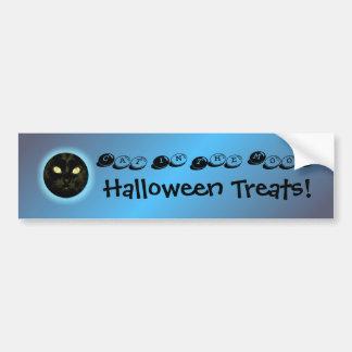 Halloween Cat in the Moon Party Decoration Bumper  Car Bumper Sticker