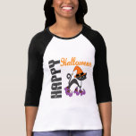 Halloween Cat In Witch's Boots T-Shirt
