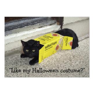 Halloween Cat Invitation Cards
