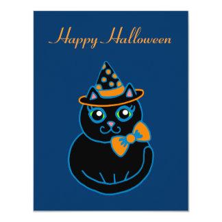 Halloween Cat Invitations