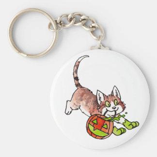 Halloween Cat Keychain