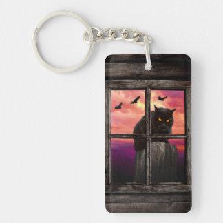 Halloween Cat Keyring Keychain