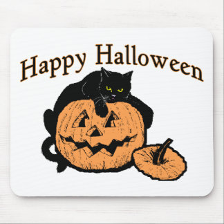 Halloween Cat Mouse Pad