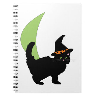 Halloween Cat Spiral Note Book
