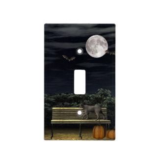 Halloween cat park light switch cover