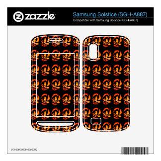Halloween Cat Pattern 3 Samsung Solstice Skin