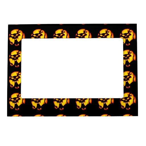 Halloween Cat Pattern Photo Frame Magnets