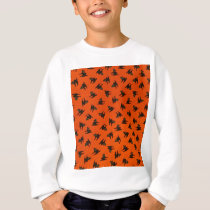 Halloween Cat Pattern Sweatshirt