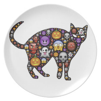 HALLOWEEN CAT PARTY PLATES