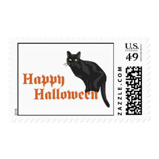 Halloween Cat Postage Stamps
