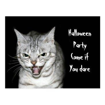 Halloween Themed Halloween cat postcard