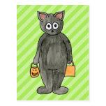 Halloween Cat. Postcard