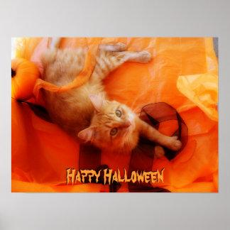 Halloween Cat Poster