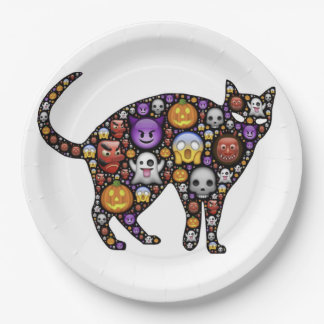 HALLOWEEN CAT 9 INCH PAPER PLATE